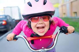 fietsend kind